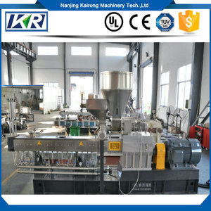 PP/EPDM Blending Parallel Double Screw Extruder/Biodegradable Corn Starch Compounding Twin Screw Extruder