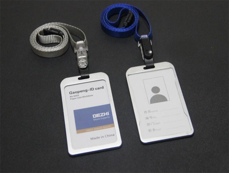 Latest Design For Fancy Aluminium Alloy Metal Apple Employee Id Card Badge Holder