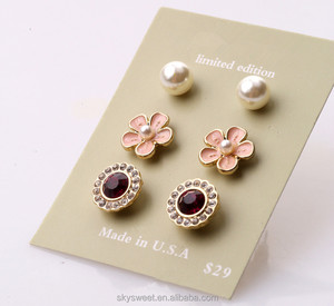 wholesale earrings manufacturer, flower cute ghetto girl earrings