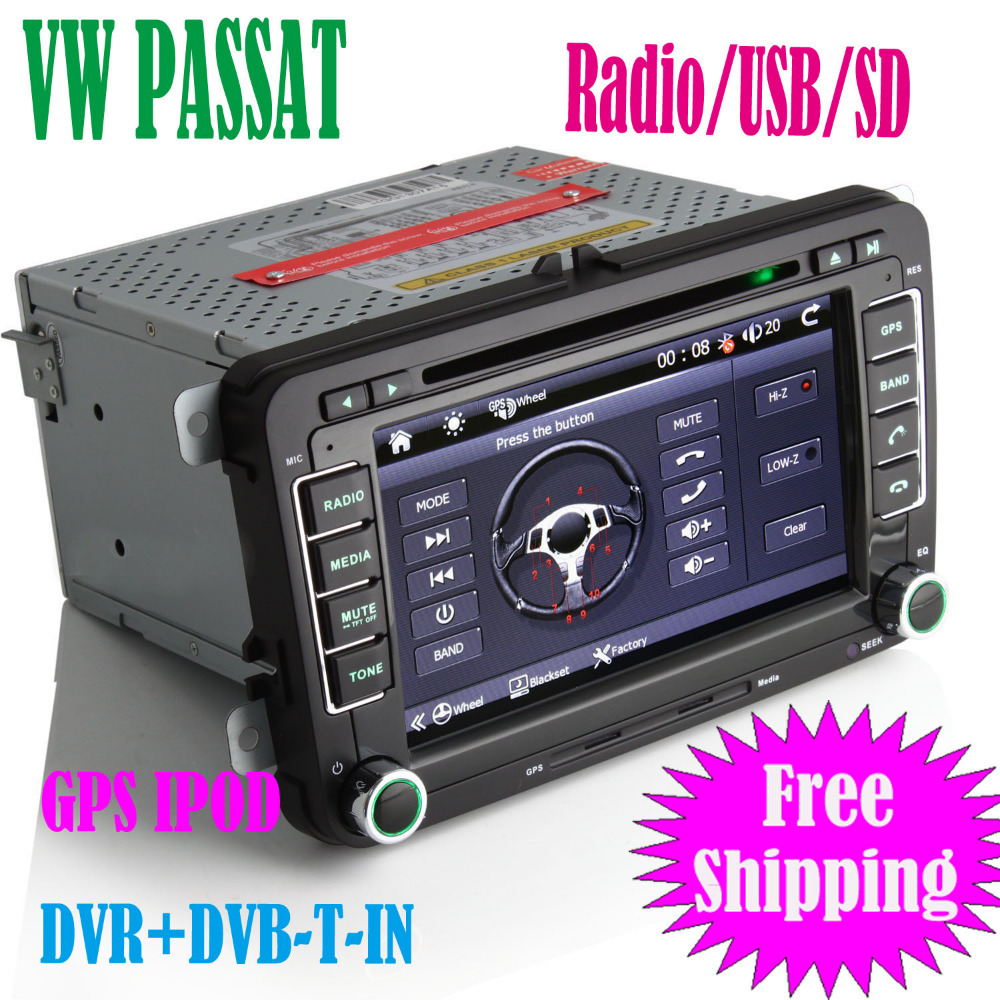 vw passat car dvd player 7 inch hd car radio with gps navigator ipod dvr dvb t in digital touch. Black Bedroom Furniture Sets. Home Design Ideas
