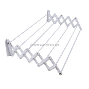 Clothes Dryer Airer Extendable Wall Mounted 5 Pull Out Rails Painted Steel