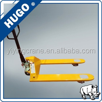 AC or DF hydraulic 2 ton hand pallet truck with nylon pu or rubber wheel price