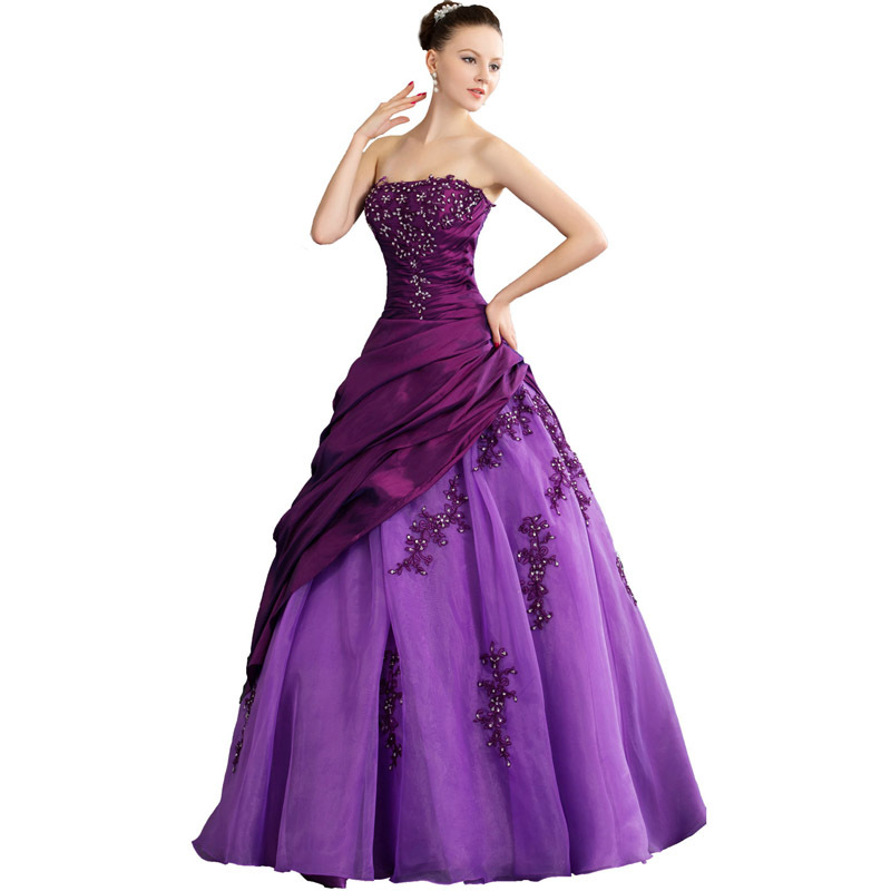 Get Quotations Wdh1 251 Purple Ball Gown Bead Liques Lace Wedding Dresses Bridal Gowns 2017