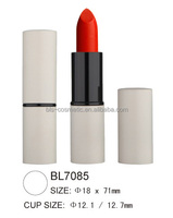 Matte White Tube LipStick Factory Private Label Aluminum Container in Guangzhou