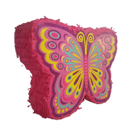 High-quality butterfly-shaped paper party red paper pinata
