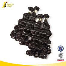 100% unprocessed brazillian hair, loose wave hair for noble women, grace hair style