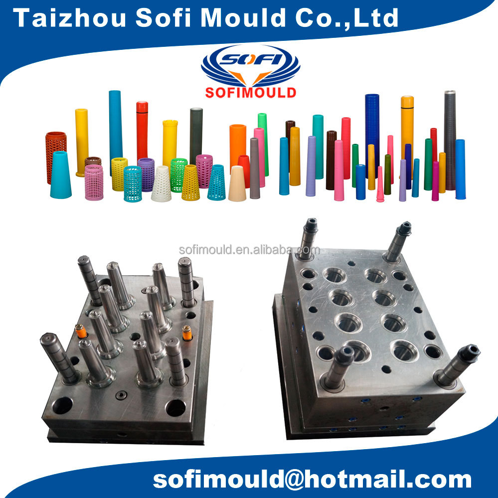 8 cavities plastic bobbin injection moulding