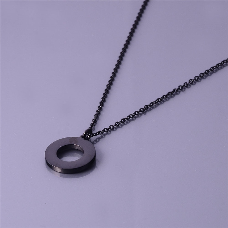 Populor Round Circle Long Chain Pendant Designs For Women Jewelry