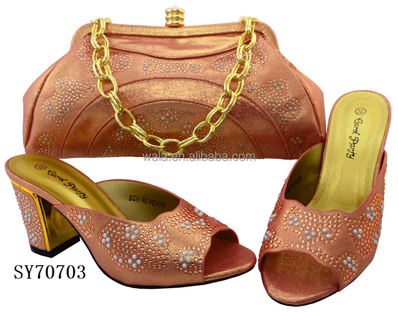 italian stones matching handbag heel shoes SY70703 bag sandals with and quality with good mid nZw8TqHTWS