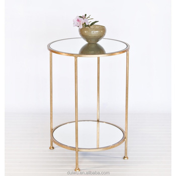 Factory Hot Living Room Decorative Small Round Gold Side Table