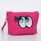 Classic Blues Eye Makeup Bag Cartoon Handbag PU Solid Color Clutch Bag Can Be Customized LOGO Makeup Cosmetic Case Bag