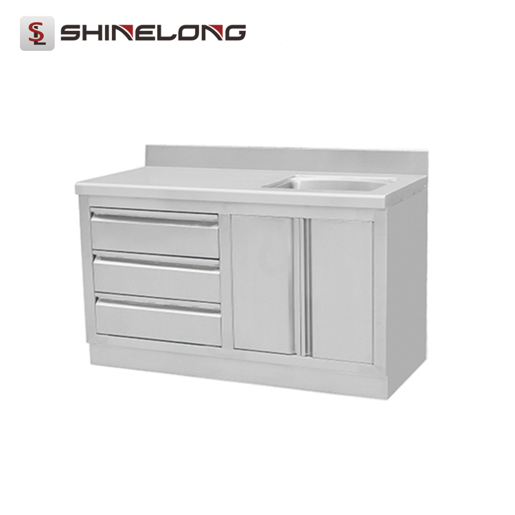 2017 Chinese Restaurant Kitchen Stainless Steel Sink Cabinet