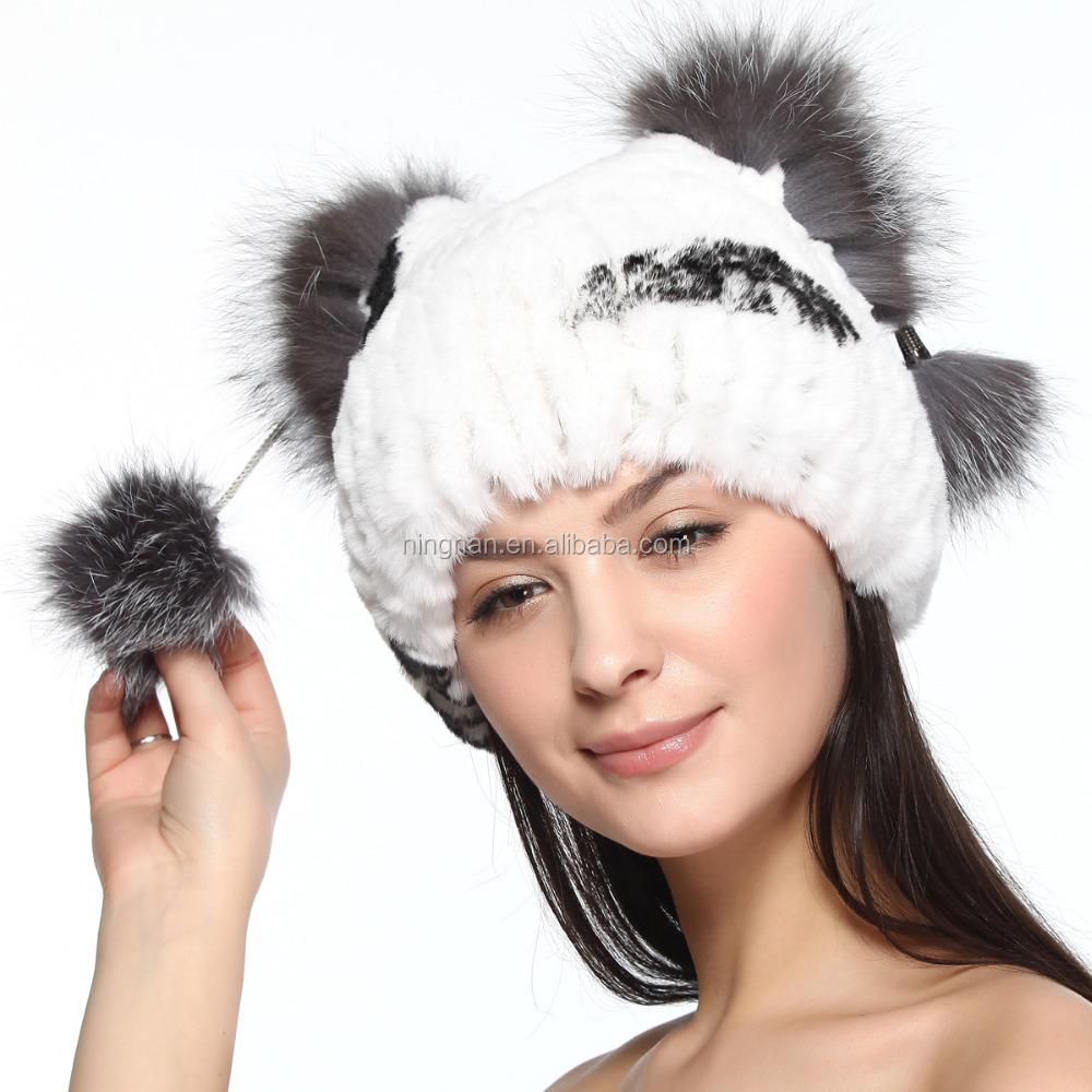 BG70098 mejor diseño mujer Real lindo punto RexWoman Real lindo Knit Rex  Rabbit sombrero de piel 7fd561fd988