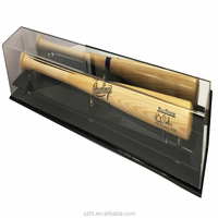 Custom clear Acrylic Baseball Bat Display Case Holder with Mirror