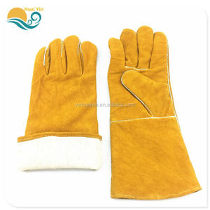 Industrial Welding Working protective leather safety gloves