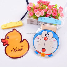 OEM cute cartoon waterproof bag outdoor running waterproof case for smartphone