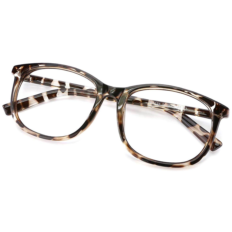 51940f55c2f8 Get Quotations · Slocyclub Unisex Blue Light Blocking Glasses Oversized Non-prescription  Glasses Round Clear Lens Eyeglasses