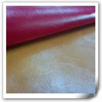 cow leather with crazy horse for Iran market, pu leather like real leather with flocking back