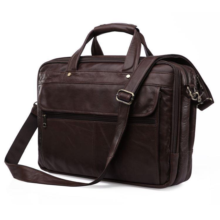 Максвелл высокое качество натуральная кожа мужчины посланник сумки портфель портфель 15.6 '' ноутбук сумки бизнес дорожная сумка # J7146