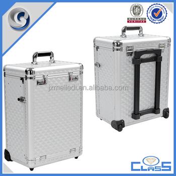 Mldtc Pro Aluminum Rolling Makeup Case Salon Cosmetic - Aluminum trolley case pro rolling makeup cosmetic organizer