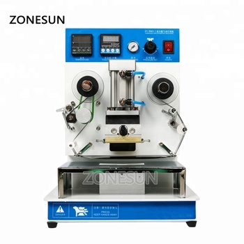 ZONESUN ZY-RM3 Automatic hot foil Stamping Machine leather LOGO stamper