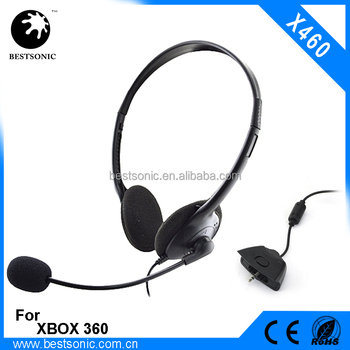 2.5MM wired gaming headband for xbox 360 ,light protable gaming headset with mic