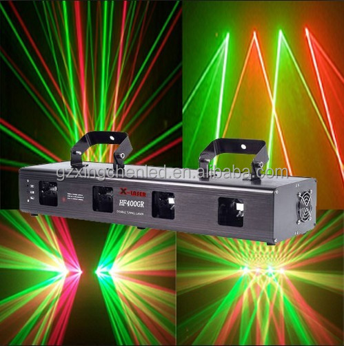 Guangzhou Professional Stage Red & Green Four Head Laser Light Equipment for sale