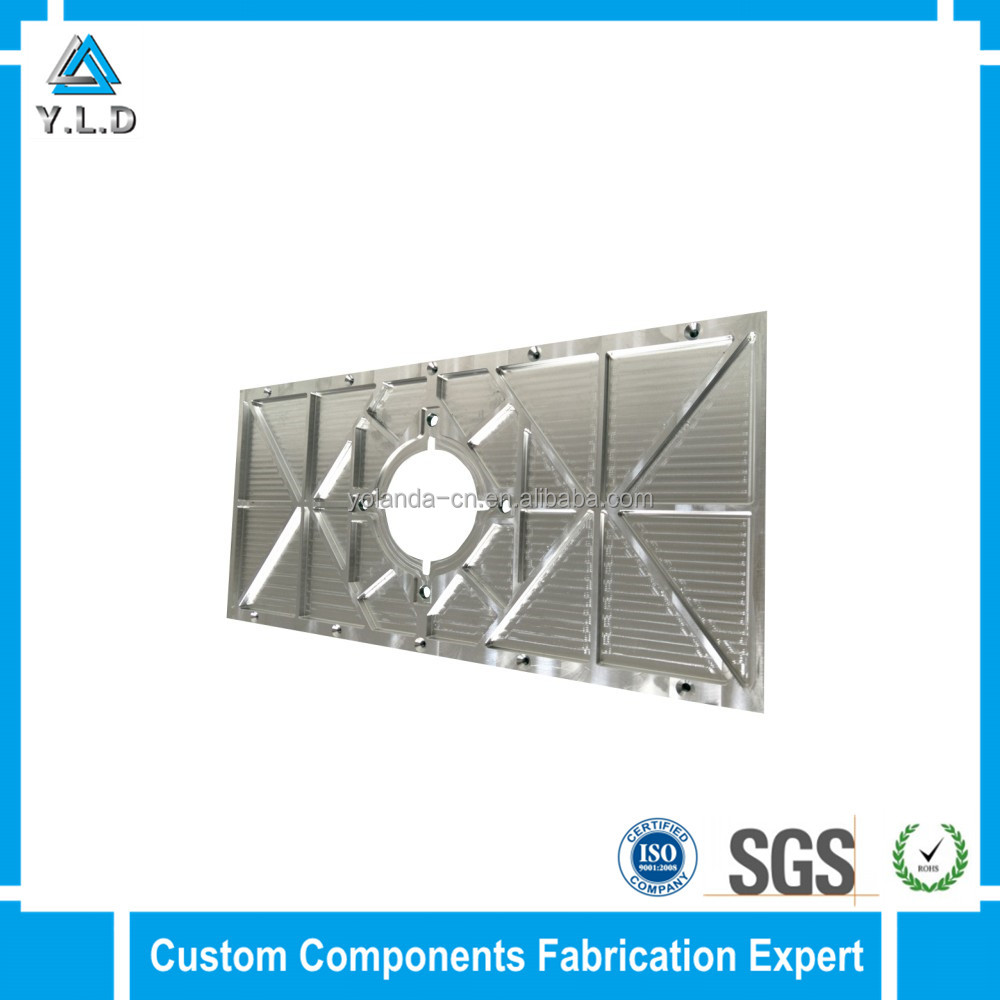 Yolanda Aluminum Engineering Custom Aluminum Fabrication Precision CNC Milling Aluminum Panel For Electrical Products
