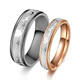 His or Hers Matching Set Heart Beat Chart Titanium Steel Couple Wedding Band Ring