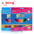 Pencils For Pencil Pencil Quality Yl830041 High Quality Triangle Natural Wooden Color Pencils Colors For Student/school Kids Color Pencil Set 12/18/24 Colors