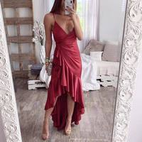 3-Color V- Neck Sexy Dress Maxi Sexy Night Out Dress Autumn Modern Lady Women Party Dresses
