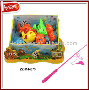 Electric musical toy fishing nets
