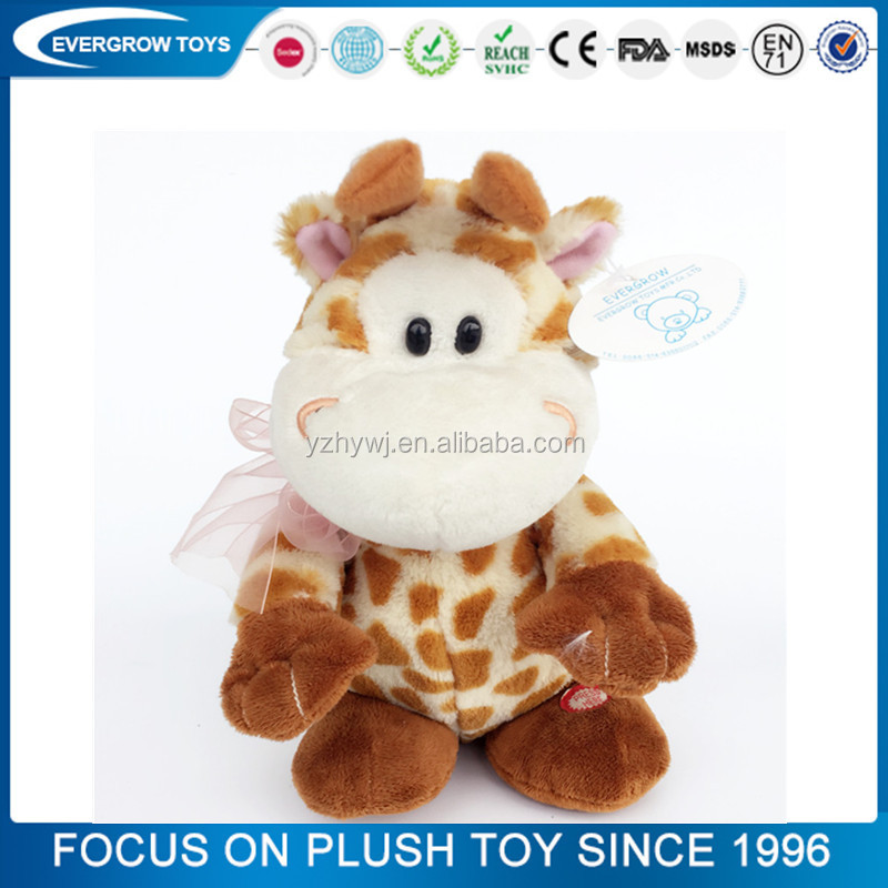 new shaking head interaction giraffe plush toy electric toy