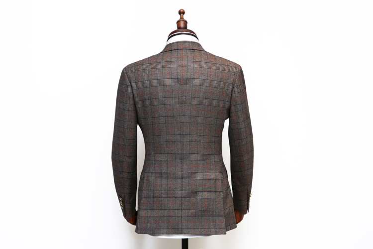 OEM service China factory fashion pattern brown check casual fancy men suit and price from turkey