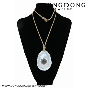 hollow stone with six small holes in the shell Necklace Jewelry silver Necklace Jewelry