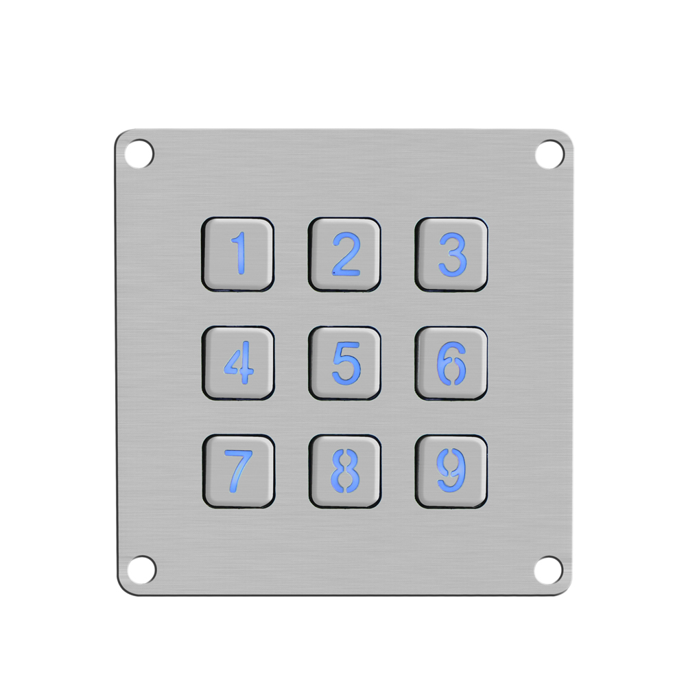ip65 dustproof terminal metal keypads