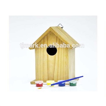 Best Sale Kids Painting Set Unfinished Wooden Bird Feeder Wholesale Bird Houses Buy Assembled Bird House Unfinished Diy Bird House Diy Wood Bird