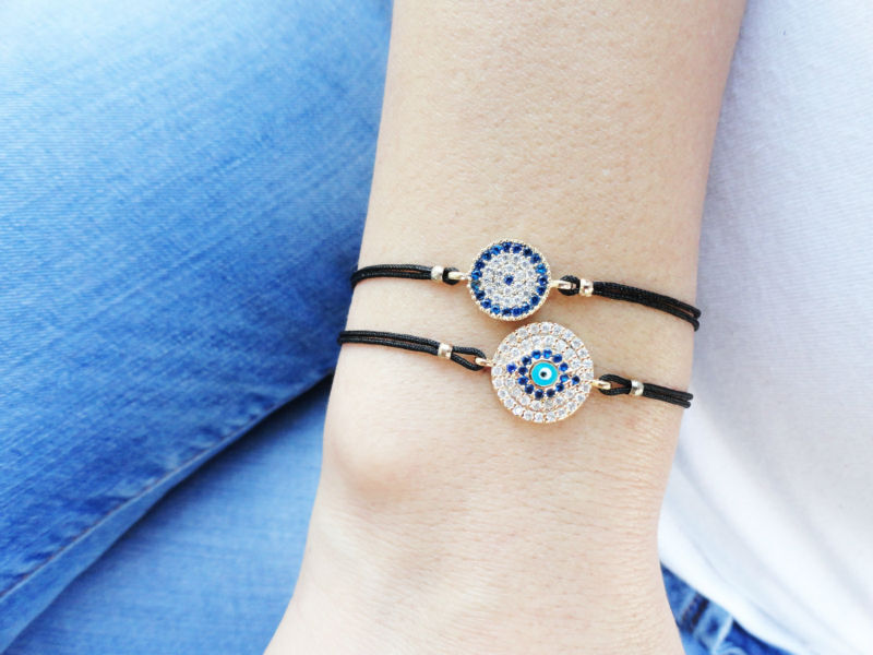 Evil Eye Bracelet Mother Daughter Matching Jewelry Zirconia String Bracelets Mommy And Me Gift For Mothers Best Friend Birthday