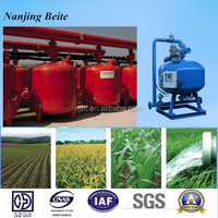 Shallow media filtration system sand filter with PLC controller for irrigation drip system