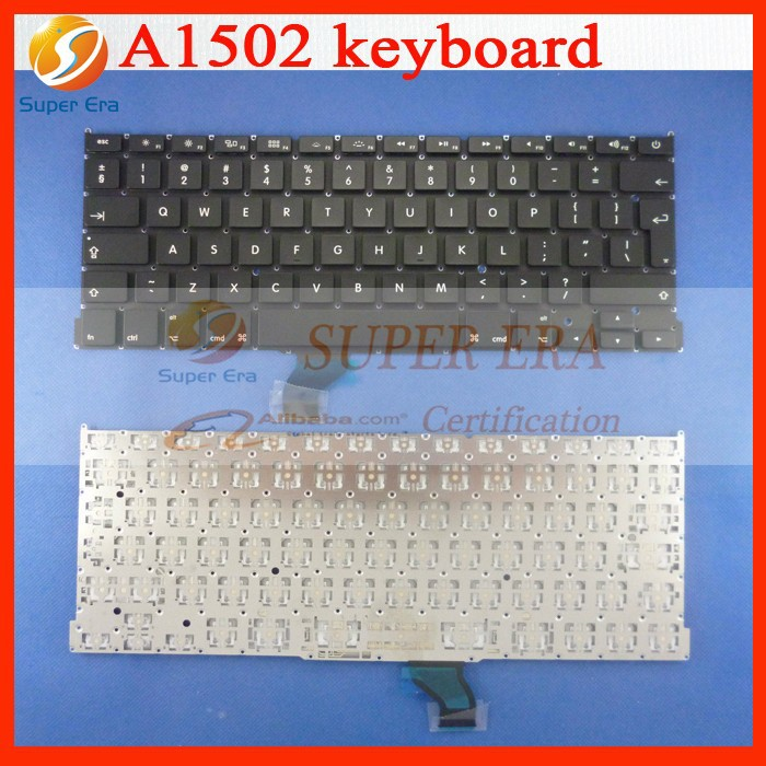 "NEW Genuine for Apple Macbook Pro Retina 13"" A1502 UK Layout Laptop Keyboard 2013"