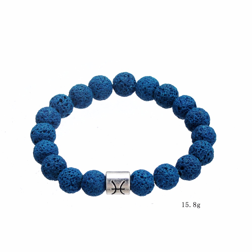 Top Selling New Design Metal Charm Accessories Bead Bracelet Great Dark Blue Volcanic Stone Wrap Bracelet