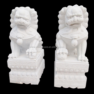 Hand carving winged lion statue