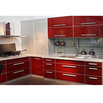Zhihua Red Color Aluminium Kitchen Cabinet Design For Sale