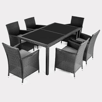 Sedie E Tavoli Da Esterno.Vimini Nuovo Set Di Mobili Da Giardino Da Pranzo Sedie E Tavoli