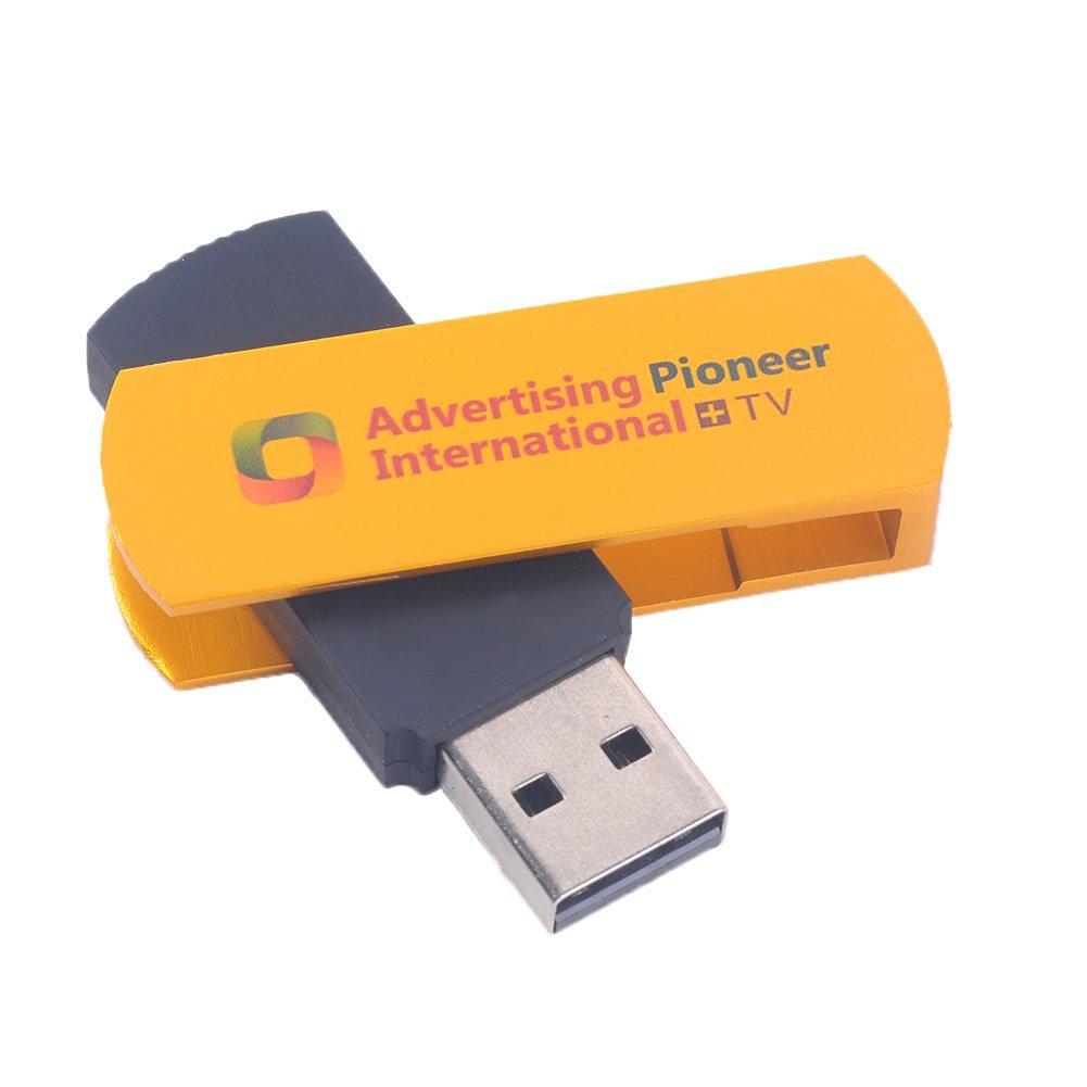 Chinatera Multifunctional Golden USB Worldwide Internet TV and Radio Player Dongle