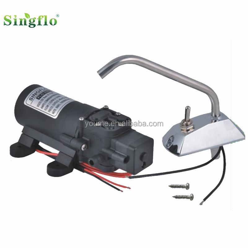 Singflo Faucet tap with switch/12v galley electric water pump set/ Galley pump