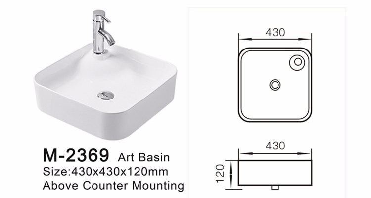 Ceramic fitting wash basin sink parts