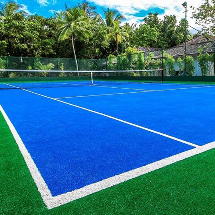 Anti - UV Artificial Turf Blue Grass Outdoor Tennis Court Grass