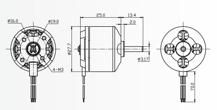 Pièces de rechange pour drones, micro rc, moteur sans balais 2200kv, 1000kv, 2212 11.1v dc