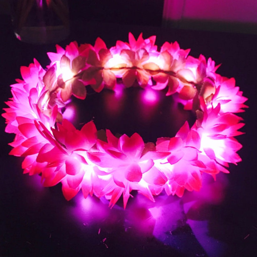 led beautiful Flowers festival party crown